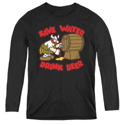Image for Hagar The Horrible Women's Long Sleeve T-Shirt - Save Water Drink Beer