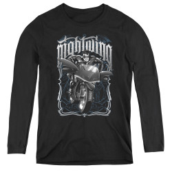 Image for Batman Women's Long Sleeve T-Shirt - Nightwing Biker