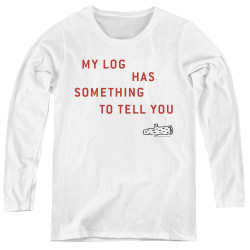 Image for Twin Peaks Women's Long Sleeve T-Shirt - My Log Has Something to Tell You