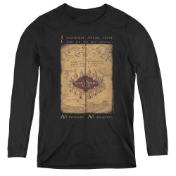 Image for Harry Potter Women's Long Sleeve T-Shirt - Maruader's Map Words