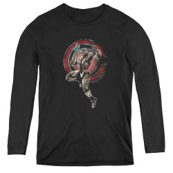 Image for Justice League Movie Women's Long Sleeve T-Shirt - Cyborg