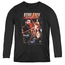 Image for Star Trek the Next Generation Mirror Universe Women's Long Sleeve T-Shirt - Panels