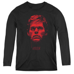 Image for Dexter Women's Long Sleeve T-Shirt - Bloody Face