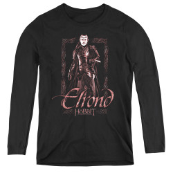 Image for The Hobbit Women's Long Sleeve T-Shirt - Elrond Stare