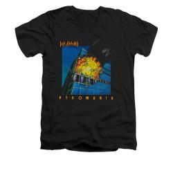 Image for Def Leppard V Neck T-Shirt - Pyromania