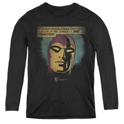 Image for The Phantom Women's Long Sleeve T-Shirt - Evildoers Beware
