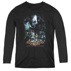 Image for Batman Arkham Asylum Women's Long Sleeve T-Shirt - Five Against One