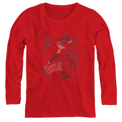 Image for Batman Women's Long Sleeve T-Shirt - Harley's Packing