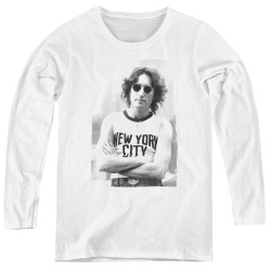 Image for John Lennon Women's Long Sleeve T-Shirt - New York