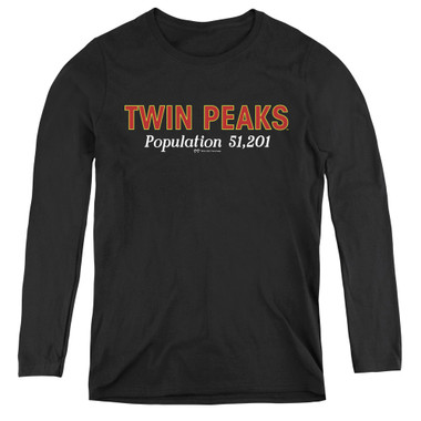 Image for Twin Peaks Women's Long Sleeve T-Shirt - Population 51,201