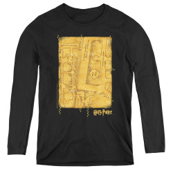 Image for Harry Potter Women's Long Sleeve T-Shirt - Marauder's Map Interior