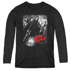 Image for Sin City Women's Long Sleeve T-Shirt - Poster
