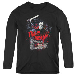 Image for Friday the 13th Women's Long Sleeve T-Shirt - Cabin