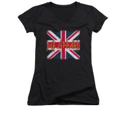 Image for Def Leppard Girls V Neck T-Shirt - Union Jack