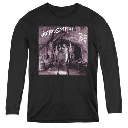 Image for Aerosmith Women's Long Sleeve T-Shirt - Night in the Ruts Album