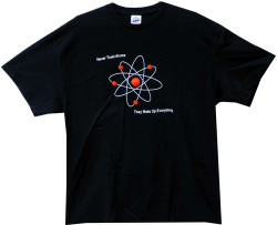 Image Closeup for Never Trust Atoms They Make Up Everything T-Shirt