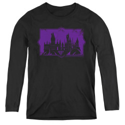 Image for Fantastic Beasts: the Crimes of Grindelwald Women's Long Sleeve T-Shirt - Howarts Silhouette