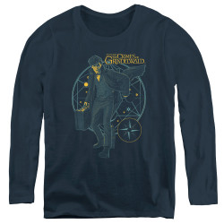Image for Fantastic Beasts: the Crimes of Grindelwald Women's Long Sleeve T-Shirt - Suitcase