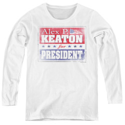Image for Family Ties Women's Long Sleeve T-Shirt - Alex for President