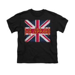 Image for Def Leppard Youth T-Shirt - Union Jack