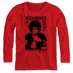 Image for Jimi Hendrix Women's Long Sleeve T-Shirt - Longod 1966