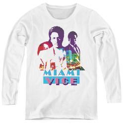 Image for Miami Vice Crockett and Tubbs Women's Long Sleeve T-Shirt