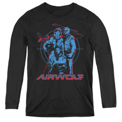 Image for Airwolf Graphic Women's Long Sleeve T-Shirt