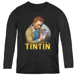Image for The Adventures of Tintin Women's Long Sleeve T-Shirt - Looking for Answers