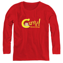 Image for Curious George Curious! Women's Long Sleeve T-Shirt
