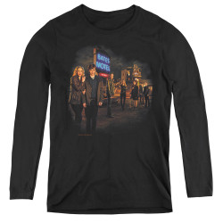 Image for Bates Motel Women's Long Sleeve T-Shirt - Cast