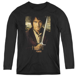 Image for The Hobbit Women's Long Sleeve T-Shirt - Baggins Poster