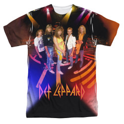 Image for Def Leppard Sublimated T-Shirt - On Stage 100% Polyester