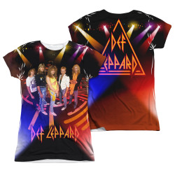 Image Closeup for Def Leppard Sublimated Girls T-Shirt - On Stage