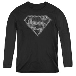 Image for Superman Women's Long Sleeve T-Shirt - Chainmail