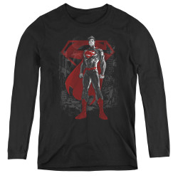 Image for Superman Women's Long Sleeve T-Shirt - Aftermath
