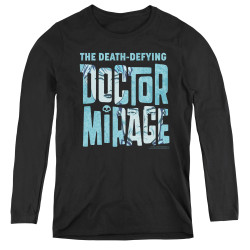 Image for Doctor Mirage Women's Long Sleeve T-Shirt - Character Logo