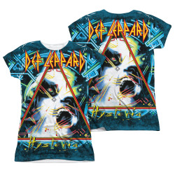 Image Closeup for Def Leppard Sublimated Girls T-Shirt - Hysteria