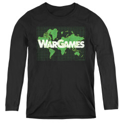 Image for Wargames Women's Long Sleeve T-Shirt - Game Board