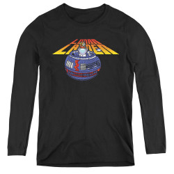 Image for Atari Women's Long Sleeve T-Shirt - Lunar Lander Globe