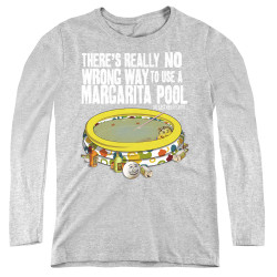 Image for Last Man on Earth Women's Long Sleeve T-Shirt - There's No Wrong Way to Use a Margarita Pool