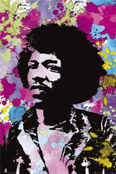 Image for Jimi Hendrix Poster - Colors