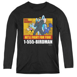 Image for Harvey Birdman Attorney at Law Women's Long Sleeve T-Shirt - Law Ad