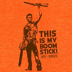 Image Closeup for Army of Darkness T-Shirt - This is My Boomstick