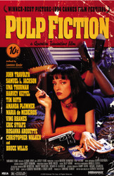 Image for Pulp Fiction Poster - Uma Bed