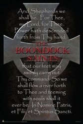 Image for Boondock Saints Poster - Cross & Prayer