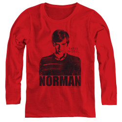Image for Bates Motel Women's Long Sleeve T-Shirt - Norman