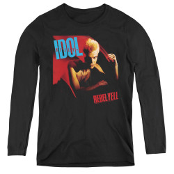 Image for Billy Idol Women's Long Sleeve T-Shirt - Rebel Yell