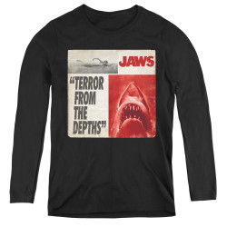 Image for Jaws Women's Long Sleeve T-Shirt - Terror
