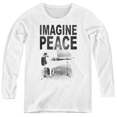 Image for John Lennon Women's Long Sleeve T-Shirt - Imagine
