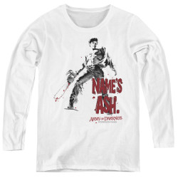 Image for Army of Darkness Women's Long Sleeve T-Shirt - Names Ash